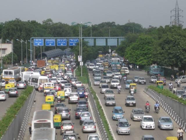 Delhi-Traffic